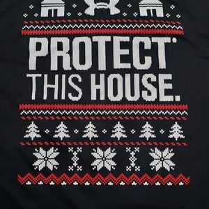 Under Armour black ugly Christmas sweater t-shirt